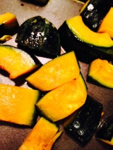 Roasted Kabocha Squash in Coconut Oil