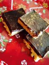 Day 20 OF 31 DAYS OF HEALTH PROMOTING & STRESS BUSTING IDEAS AND GIFTS FOR LOVED ONES: Sugar-Free Shortbread Crusted Peanut butter Chocolate Bars
