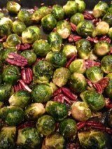 Roasted Brussels Sprouts with Coconut Nectar Vinegar, Fennel & Pecans